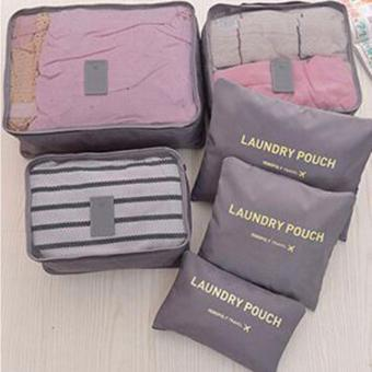 6-In-1 Secret Pouch Multipurpose Travel Organizer Grey