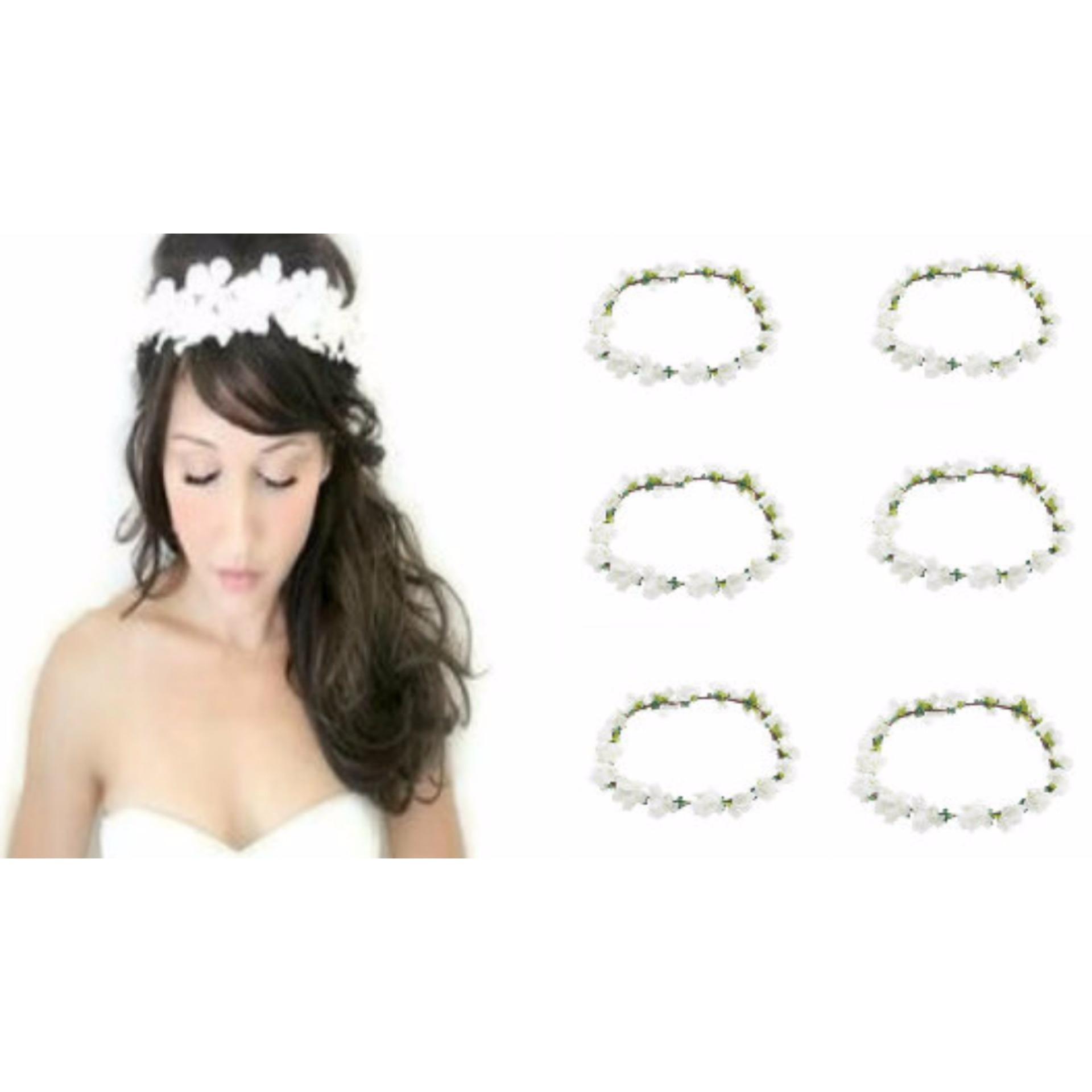 Philippines 6 pcs fairy flower crown headdress garland bridal fairy flower crown headdress garland bridal head accessories75 grams izmirmasajfo