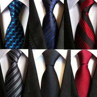 6 pcs Fashion Tie Necktie Silk Jacquard Woven Neck Ties for MenFormal Dress Business Wedding Party - intl