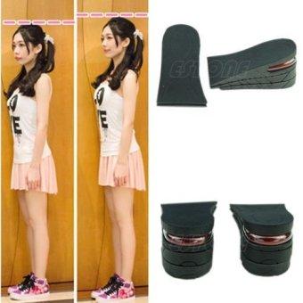 6cm Men Shoe Insole 3-Layer Air Cushion Heel Insert Increase Taller Height Lift - 4