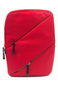 708 Casual Daily School Backpack (Red)