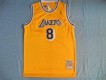 8 Basketball Jersey Lakers Kobe Bryant NBA Hardwood Classics QuickDry Good Price High Quality ( Gold ) - intl Price Philippines