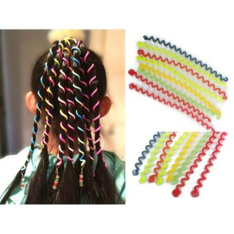 8 Pcs. / 4 Pairs DIY children's hair ornaments Hair Styling TwisterClip Braider Tool DIY Hair Accessories 12g