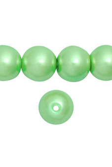 85pcs Round Glass Pearl Spacer Beads 10x10x10mm Light Green