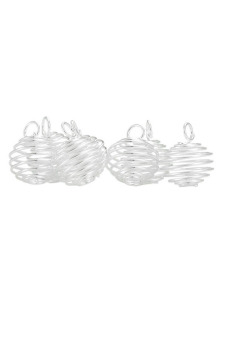 8YEARS B04109 Beads Cages Set of 50 (Silver)