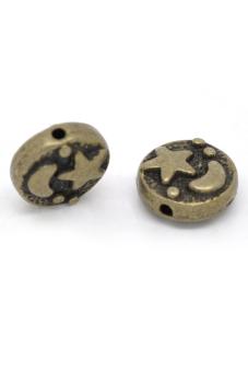 8YEARS B13724 Metal Beads Set of 50 (Brown)
