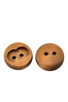 8YEARS B21313 Wood Buttons Set of 100 (Coffee)