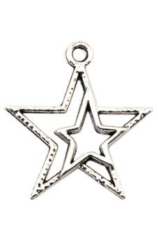 8Years B21330 Metal Pendants Set of 50 (Silver)