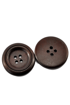 8YEARS B21382 Wood Buttons Set of 50 (Brown)