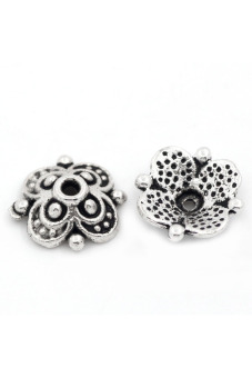 8YEARS B25971 Beads Caps Set of 100 (Silver)