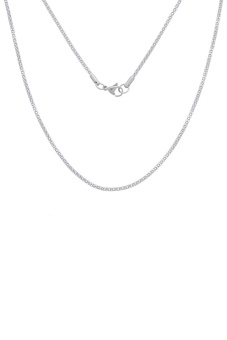 8YEARS B81624 Snake Chain Necklace (dull silver tone(not silver plated))