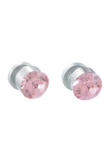 8YEARS UP01485 Stud Earrings (Silver/Pink)
