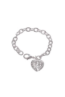 925 Silver Plated Hollow Bracelet