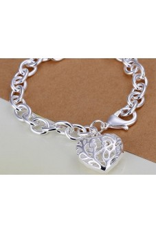 925 Silver Plated Hollow Bracelet - picture 2