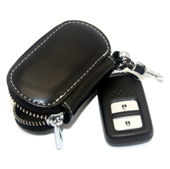 Accessories Leather Key Wallet Car Key Case Leather Key Holder Keychain For Ford C-MX Mustang V6 GT E-150 E-250 E-350 Escort KA - intl - 4