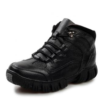 AD NK FASHION Men's Fashion Leather Safety Shoes WinterBoots(Black)AK186 - intl - 2