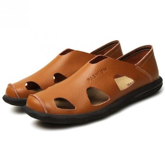 AD NK FASHION Men's Fashion Style Breathable LeatherSandals(Brown)AK064 Price Philippines
