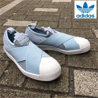 Adidas 2017 New Originals Superstar Slip-on BB2121 Light Blue-White Express - intl