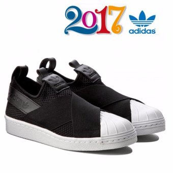 Adidas 2017 New Originals Superstar Slip-on BY2884 Black/White - intl