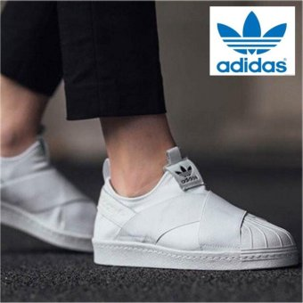 Adidas Originals Superstar Slip-on Shoes S81338 White/White Express - intl