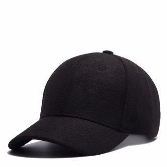 Adjustable Baseball Caps Embroidery Cotton Baseball Cap Boys Girls Snapback Hip Hop Hat black - intl