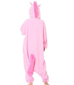 Adult Unisex Unicorn Animal Kigurumi Onesies Pajamas Cosplay Birthday Party Wear,Pink - 2