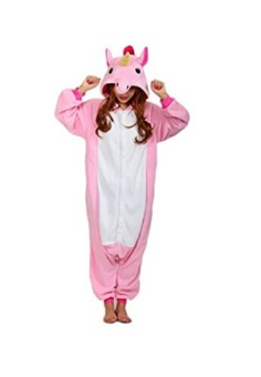 Adult Unisex Unicorn Animal Kigurumi Onesies Pajamas Cosplay Birthday Party Wear,Pink