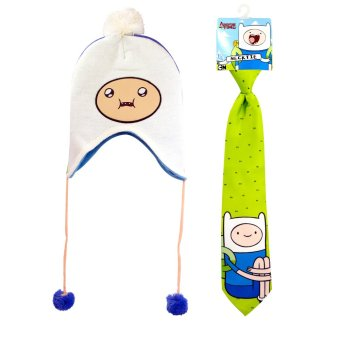 Adventure Time Kid's Necktie 14in with Beanie 50cm