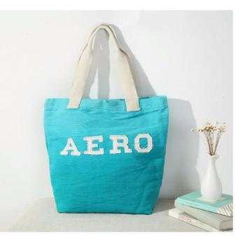 Aeropostale Aero Canvas Beach Tote Bag