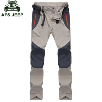 AFS JEEP Men's Pizex Waterproof Quick Drying Thin Breathable ParkaPant(Color:Dark Grey) - intl - 2