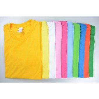 AIIZ UNISEX Plain T-Shirt (Yellow) - 3