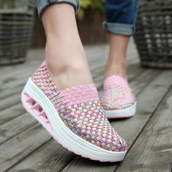 AIWOQI Unisex Ultra Lightweight Multicolor Woven Sneaker Slip-onShoe - intl - 3