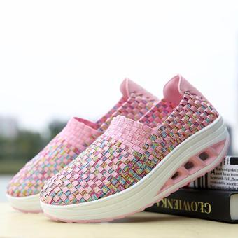 AIWOQI Unisex Ultra Lightweight Multicolor Woven Sneaker Slip-onShoe - intl - 4