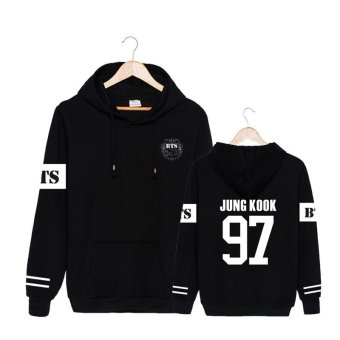 ALIPOP Kpop Korean BTS Bangtan Boys 2 Cool 4 Skool Album No MoreDream JUNG KOOK Cotton Hoodies Hat Pullovers SweatshirtPT480(JUNGKOOK Black) - intl