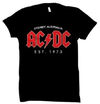 All About Rock ACDC 1973 Band Shirt (Black)