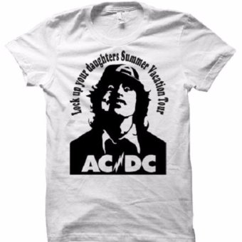 All About Rock ACDC Lock up Band T-Shirt (White)
