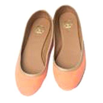 Allure Collection K Canvas Lure Foldable Shoes (Neon Orange)