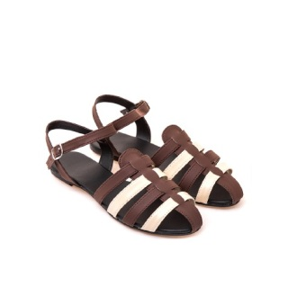 Seller Aloha Woven Sandals Brown/O.White Price And Model