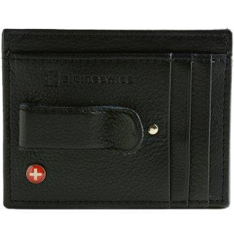 Alpine Swiss Money Clip Front Pocket Wallet (Black)