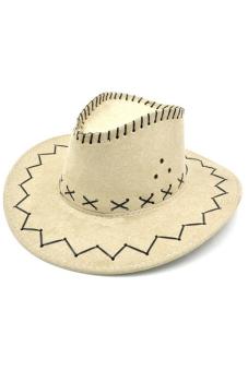 Amango Unisex Hat Cowboy Knight Western Visor Beige