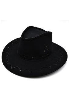 Amango Unisex Hat Cowboy Knight Western Visor Black