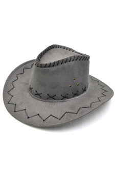 Amango Unisex Hat Cowboy Knight Western Visor Grey