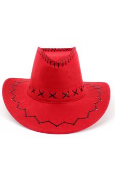 Amango Unisex Hat Cowboy Knight Western Visor Red - picture 2
