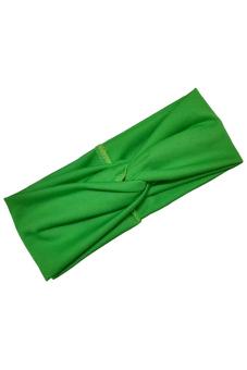 Amango Women's Headband Cotton Turban Twist Knot (Green)