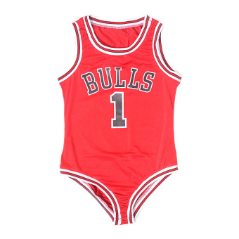 Amart Bulls Rose 1 Basketball Jumpsuits Sexy One Piece Swimwear - intl Price Philippines