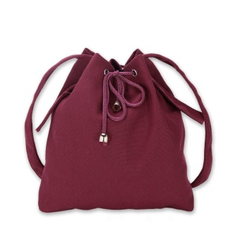 Amart Fashion Korean Women Bucket Bag Canvas Drawstring Casual Vintage Crossbody Messenger Shoulder Bags - intl Price Philippines