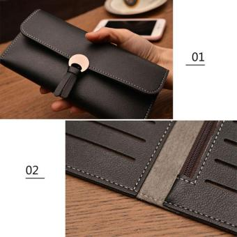Amart Fashion Korean Women Long Purse Leather Clutch Bags Zipped Card Holder Wallet Coin Bag For Gift - intl - 4