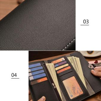 Amart Fashion Korean Women Long Purse Leather Clutch Bags Zipped Card Holder Wallet Coin Bag For Gift - intl - 5