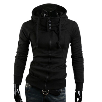 Amart Fashion Men's Cotton Long Sleeve Zipper Hoodies Sports Coat