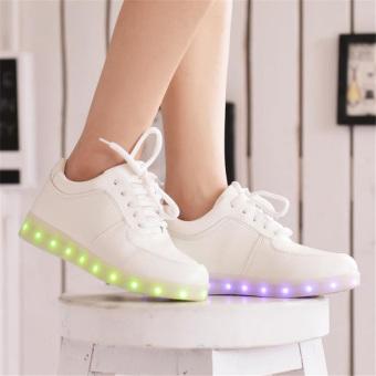 Amart LED Light Women Shoes Luminous Zapatos Schoenen Couples Casual Shoes - 2